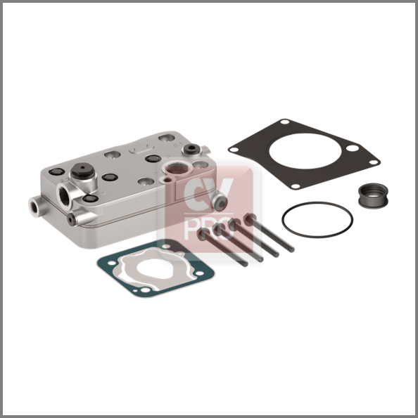 Cylinder Head Replaces Mercedes Benz 0011305219; 0011301215; 0011302615 Replaces Wabco 4123529222 Complete Assembled Cylinder Head