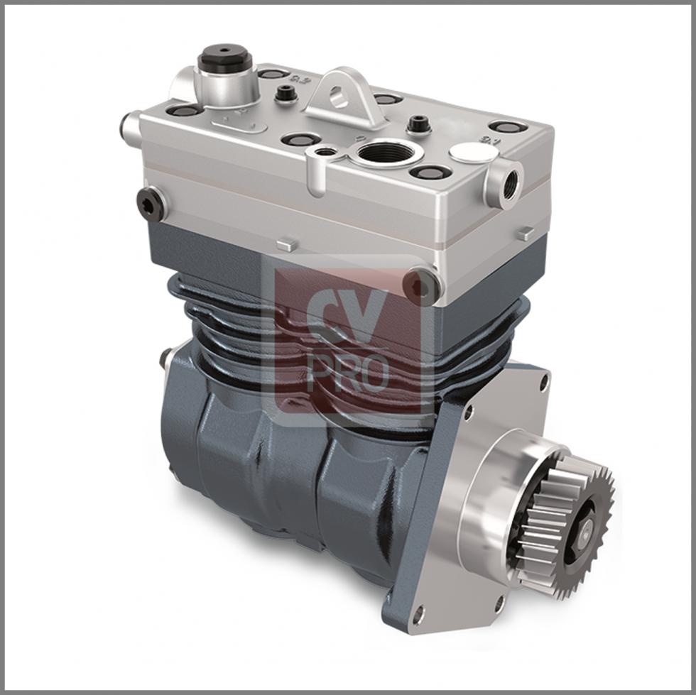 CAS000-0065 Twin Cylinder Air Brake Compressor Ø85,00 mm 636 cc 4571302715 4571303715 4571304915 4571307115 9115531050 9125101010 9125101040