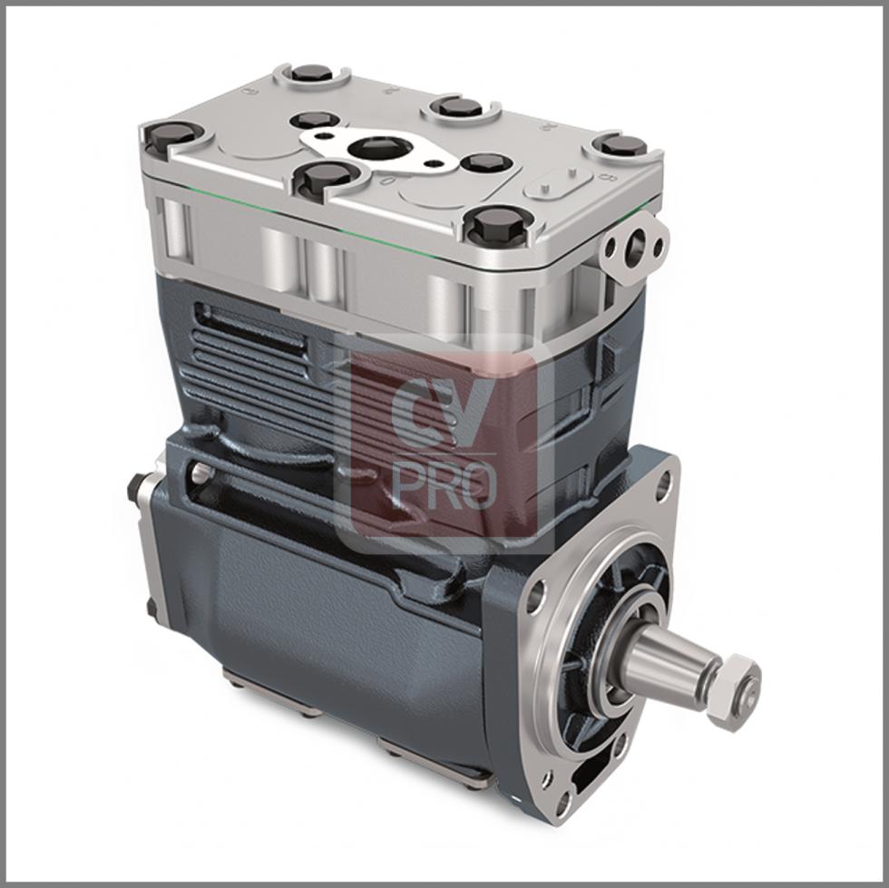 Twin Cylinder Air Brake Compressor Ø82,00 mm 600 cc Replaces Iveco 500310903 Replaces Knorr-Bremse K007254; ACX83D CV-PRO Parts CAS000-0191