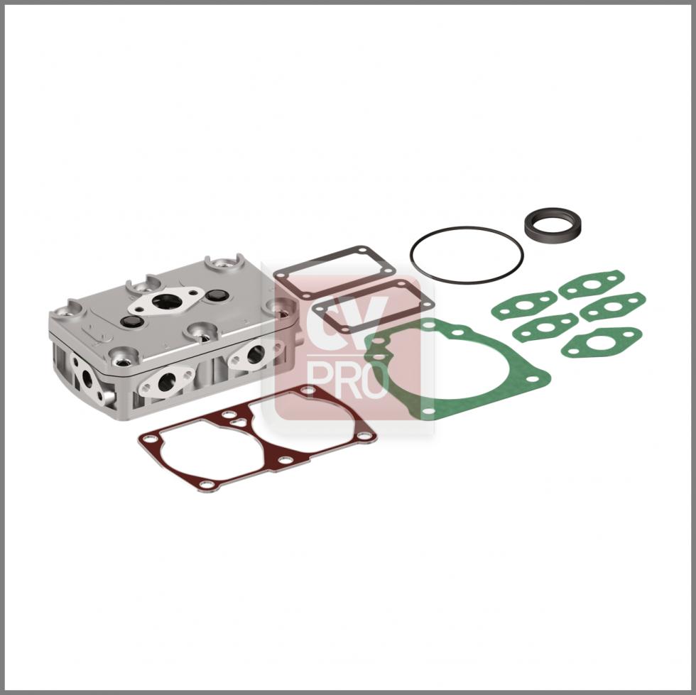 CAS001-0191 Air Brake Compressor Complete Assembled Cylinder Head Iveco 93161842; 93162116 Knorr-Bremse K029208K50 CV-PRO Parts CAS001-0191