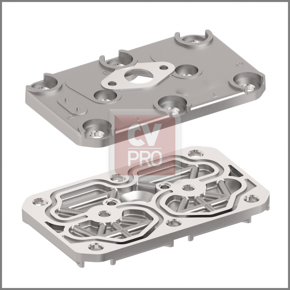 Air Brake Compressor Cylinder Head (Bare) Replaces Iveco 93161842-H2; 93162116-H2 Replaces Knorr-Bremse K029208K50-H2