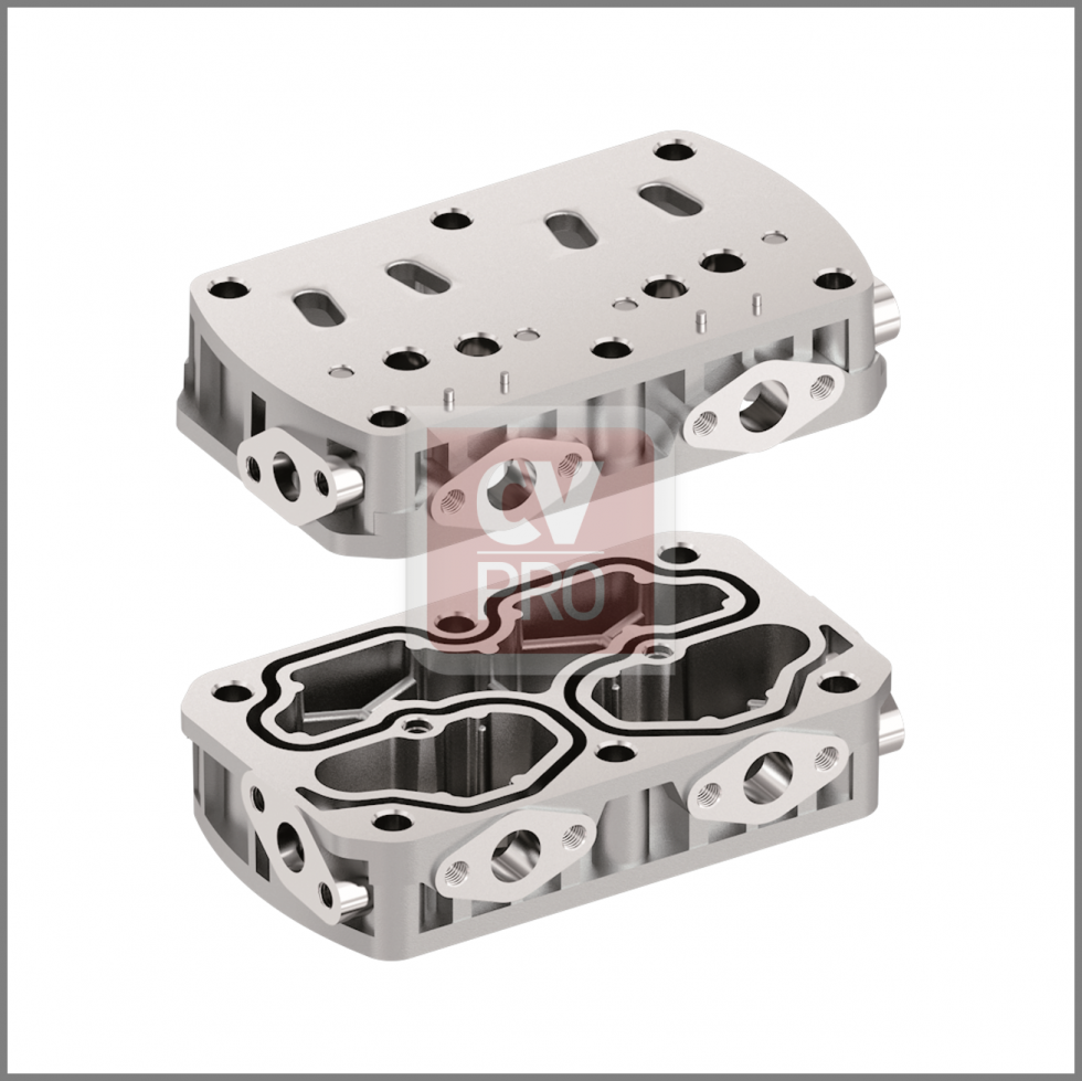 Air Brake Compressor Valve Plate Replaces Iveco 93161842-H3; 93162116-H3 Replaces Knorr-Bremse K029208K50-H3 CV-PRO CAS003-0191 93161842
